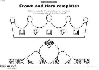 Tiara cake topper template.