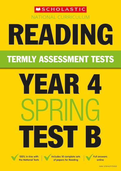 Termly Assessment Tests: Year 4 Reading Test B x 30