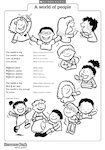 'A world of people' action rhyme (1 page)