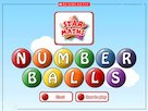 Number balls – interactive whiteboard game