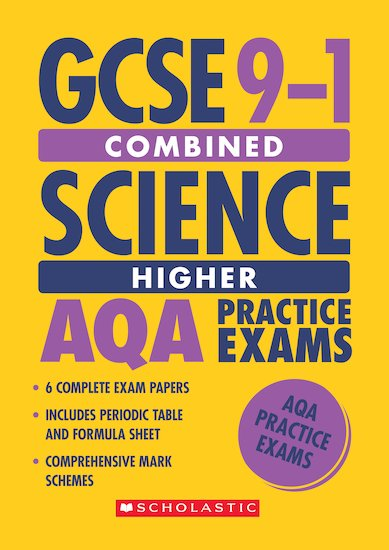 GCSE Grades 9-1: Higher Combined Science AQA Practice Exams (6 papers) x 30