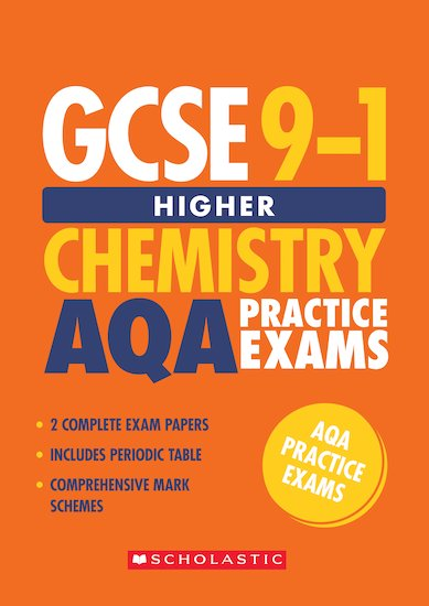 GCSE Grades 9-1: Higher Chemistry AQA Practice Exams (2 papers) x 10