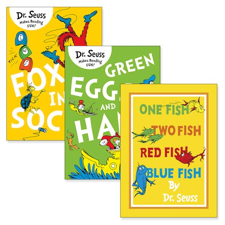 Dr Seuss Pack x 3