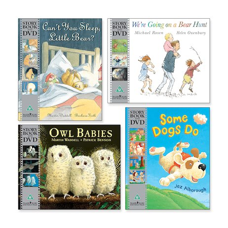 Classic Picture Books with DVDs Pack x 4