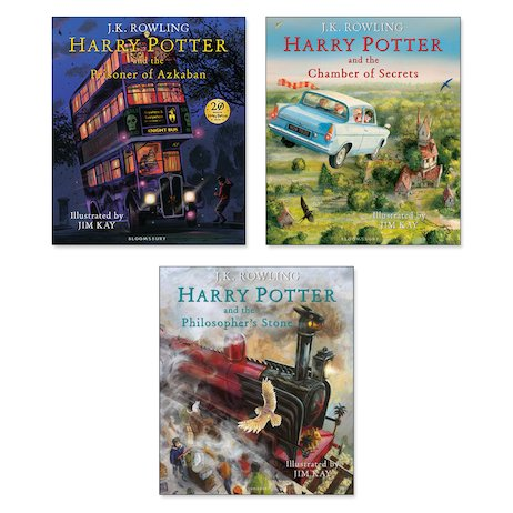 Harry Potter Illustrated Editions Pack x 3