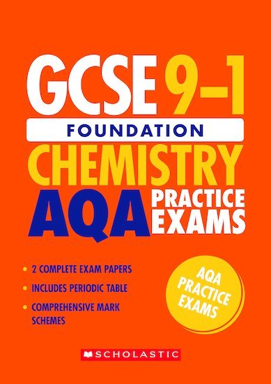 GCSE Grades 9-1: Foundation Chemistry AQA Practice Exams (2 papers) x 10