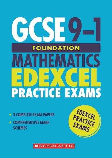 GCSE Grades 9-1: Foundation Mathematics Edexcel Practice Exams (3 papers) x 10