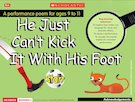'He Just Can't Kick It With His Foot' animated poem