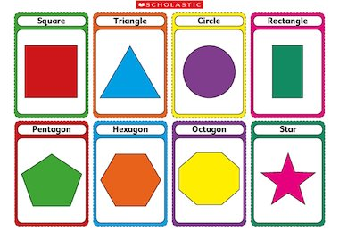 2d Shapes Flashcards Early Years Teaching Resource Scholastic