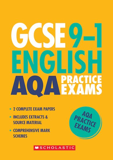 GCSE Grades 9-1: English AQA Practice Exams (2 papers) x 10