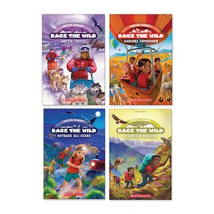 Race the Wild Pack x 4 (Books 3-6)