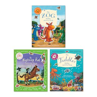 Julia Donaldson and Axel Scheffler Sticker Activity Pack x 3