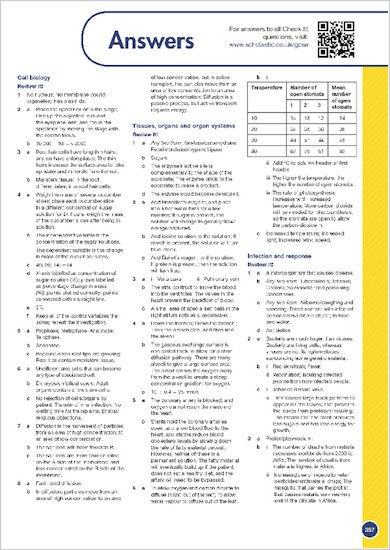 GCSE Grades 9-1: Combined Sciences Revision Guide for All Boards answers