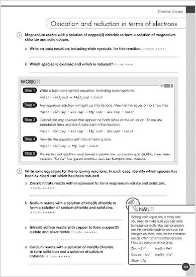 GCSE Grades 9-1: Combined Sciences Practice Book for AQA Work it and Nail it examples