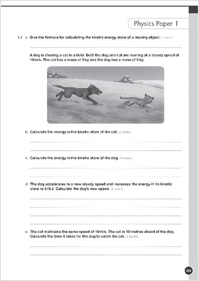 GCSE Grades 9-1: Combined Sciences Practice Book for AQA example question paper