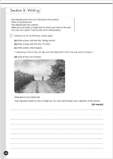 GCSE Grades 9-1: English Language and Literature Exam Practice Book for All Boards example question paper
