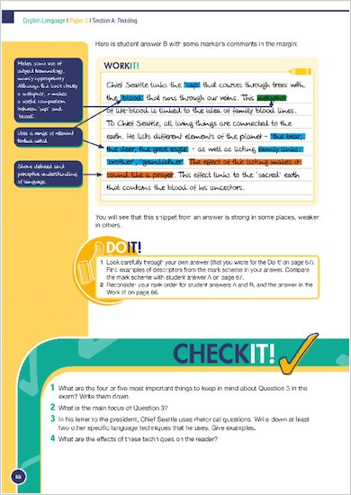 GCSE Grades 9-1: English Language and Literature Revision and Exam Practice Book for AQA Work it Do it, Check it examples
