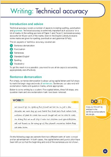 GCSE Grades 9-1: English Language and Literature Revision Guide for AQA sample start of a section