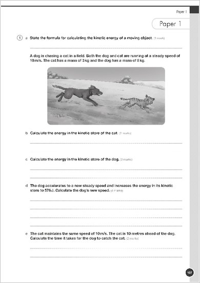 GCSE Grades 9-1: Physics Practice Book for AQA example question paper