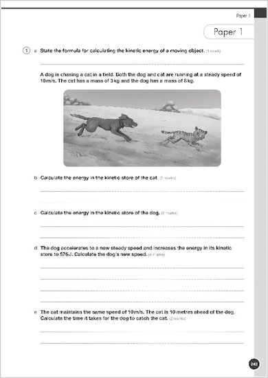 GCSE Grades 9-1: Physics Revision and Practice Book for AQA example question paper