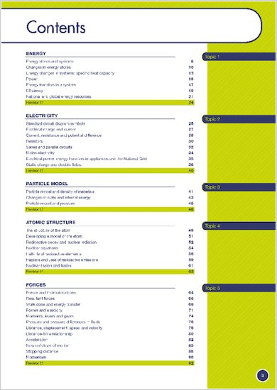 GCSE Grades 9-1: Physics Revision Guide for All Boards contents