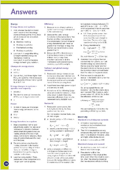 GCSE Grades 9-1: Physics Revision Guide for All Boards answers