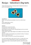 Valentine's Day recipe (1 page)