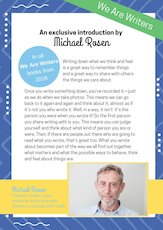 Michael Rosen We Are Writers Introduction - image