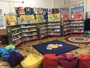 A Book Fair in a school hall