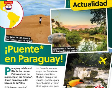PARAGUAY MENU ISSUE MARCH 2018