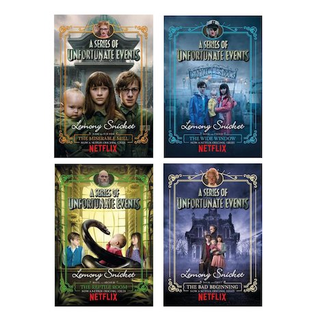 A Series of Unfortunate Events Pack x 4 (TV Editions)