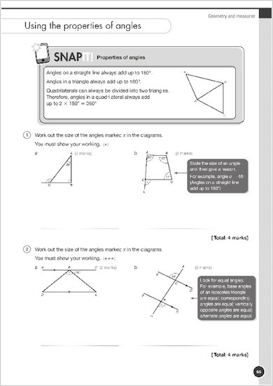 GCSE Grades 9-1: Maths Foundation Exam Practice Book for AQA snap it example