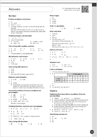 GCSE Grades 9-1: Maths Foundation Exam Practice Book for AQA answers