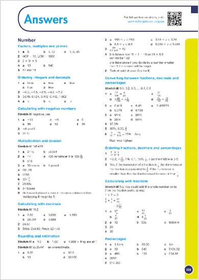 GCSE Grades 9-1: Maths Foundation Revision Guide for Edexcel answers