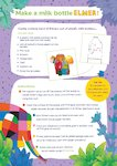 Make a milk bottle Elmer! (1 page)