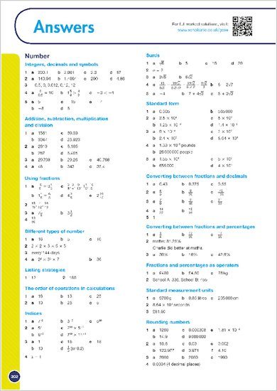 GCSE Grades 9-1: Maths Higher Revision Guide for AQA answers