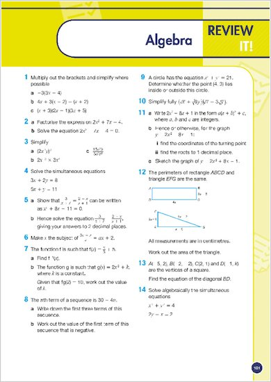 GCSE Grades 9-1: Maths Higher Revision and Exam Practice Book for Edexcel review of topic