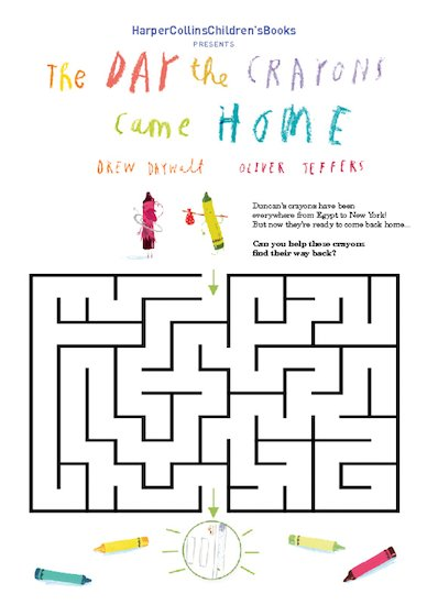 The Day The Crayons Came Home Maze Download