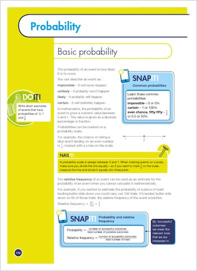 GCSE Grades 9-1: Maths Foundation Revision and Exam Practice Book for Edexcel Snap it and Nail it example