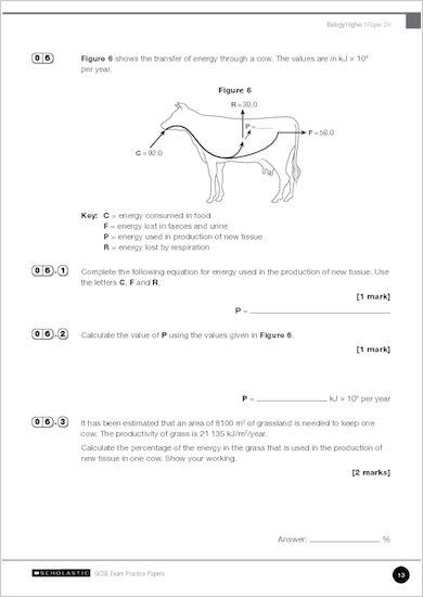 GCSE Grades 9-1 Practice Exams: GCSE Grades 9-1: Higher Biology AQA Practice Exams sample page