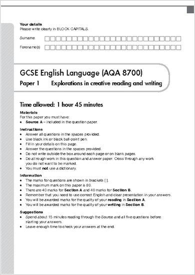 GCSE Grades 9-1 Practice Exams: GCSE Grades 9-1: English AQA Practice Exams sample page