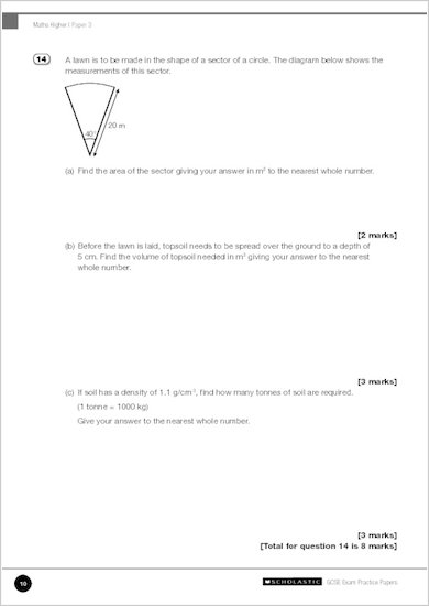GCSE Grades 9-1 Practice Exams: GCSE Grades 9-1: Higher Mathematics Edexcel Practice Exams sample page