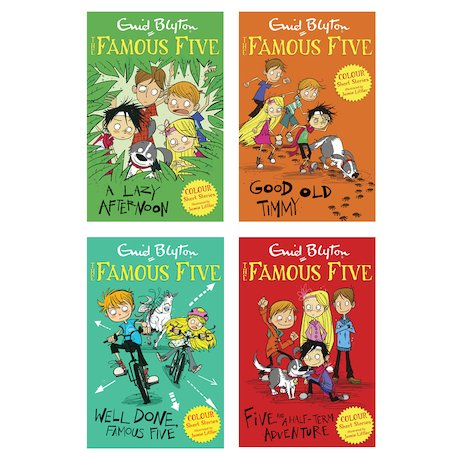 The Famous Five Colour Reads Pack x 4