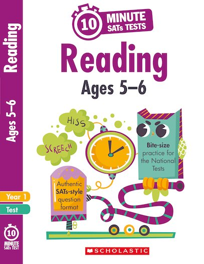 10-Minute SATs Tests: Reading - Year 1 x 6