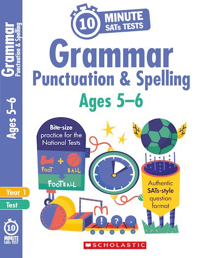 10-Minute SATs Tests: Grammar, Punctuation and Spelling - Year 1 x 6