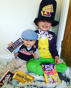 Willy Wonka and Charlie Bucket