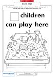 'Children can play here' sign (1 page)