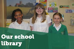 our school library blog image