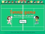 Tennis fun game