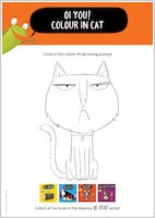 Oi Cat! Colour in Cat